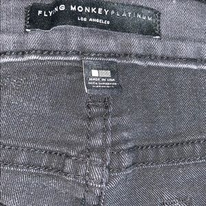 Flying Monkey Jeans - FLYING MONKEY Platinum • Ripped Knee Black Jeans